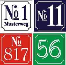 Placa de número de casa dibond con número Deseado Color NUEVO