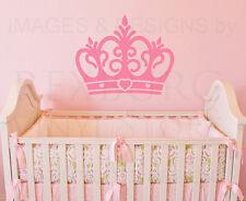 Princess Crown Large Girl Room Baby Nursery Wall Decal Vinyl Sticker Art G62