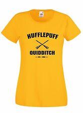 T-shirt Maglietta donna J1702 Hufflepuff Quidditch Est.1092 Harry Potter