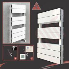"""500 mm (W) x 800 mm (H) """"flujo"""" Blanco Doble Aluminio Toallero eléctrico - 400 W"""
