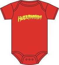 Hulkamania Babygrow HULK HOGAN WWE WRESTLING BABY GROW e di mercato COLORI 0-18 mesi
