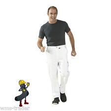 Pantaloni pittore Imbianchino da lavoro Abbigliamento Tela bianco/bianco