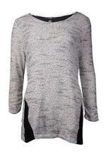 Alfani Women's Crepe Trim Mixed Media Sweater