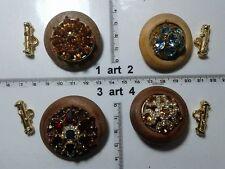 1 lotto bottoni gioiello strass smalti perle legno buttons boutons vintage g14