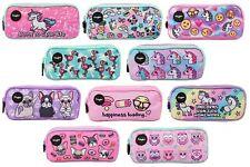 3 Compartment Pencil Case for Kids School Stationery Holder Funny Make Up Bag