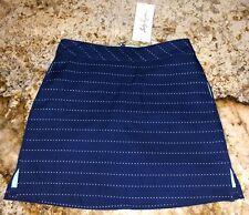 LADY HAGEN Calypso Perforated Overlay Navy Estate Blue Aqua Skort Skirt Womens 2