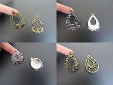 10pcs Waterdrop Filigree Chandelier Links Connectors DIY Jewelry Earrings Making