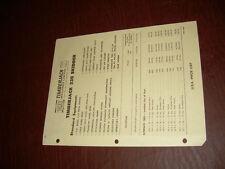 TIMBERJACK PRICE SHEET 1969 330 GRAPPLE SKIDDER BROCHURE ORIGINAL ANTIQUE
