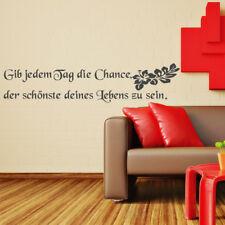 Wandtattoo Wandsticker Tag Chance Leben Auto Schriftzug XXL +158+