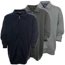 Kitaro Sweatjacke Sweat Jacke Shirt Herren Langarm Baumwolle Extra Lang Tall