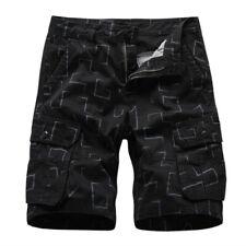 Hot Sale Men Loose Outdoor Tooling Shorts Pants Cotton Beach Elastic Waist 30-38