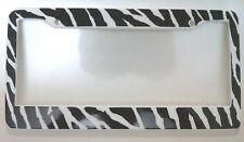 Zebra Print License Plate Frame
