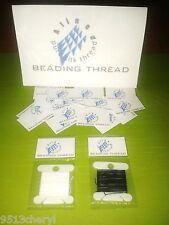 SILK BEADING THREAD for PEARLS & BEADS 2 FREE NEEDLES INC- 8mts Colour Choice