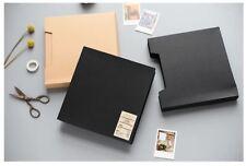 3-ring Binder Burlap Hessian Design DIY Kraft Scrapbook Album Book Wedding Decor