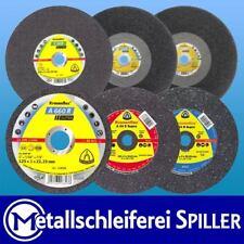 Trennscheiben SUPRA Klingspor Ø50-400 mm, 1-4,5 mm Bohrung,Stahl Edelstahl Alu