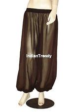 Coffee - Harem Yoga Pant Belly Dance Club Tribal Costume Pantalons Trouser Genie