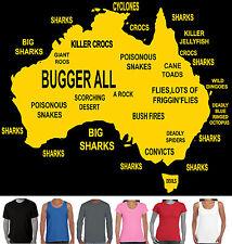 Funny T-Shirts Aussie Maps Men's Ladies Singlets Straya Australian present gift