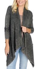 NEW - Indigo Thread Co.™ Thermal Knit Long Crochet Detailed Cascade Cardigan