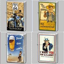 Nostalgic Art Biertrinker Durst Uncle Sam Harley Davidson Route 66 Up Feuerzeuge