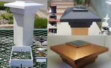 10-pk Solar 4x4 Black/White/Copper Cap Light With 4 SMD LED For PVC/Wood Post
