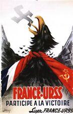 Vintage 1944 French Soviet Anti German Pact Propaganda Poster A3/A2/A1 Print