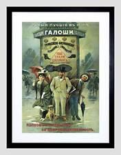 Annuncio russo Russia in gomma americana CALOSCIA VINTAGE Framed Art Print b12x2773