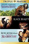 NEW - National Velvet/Story of Seabiscuit, The/Black Beauty (DVD, 3 FILM)