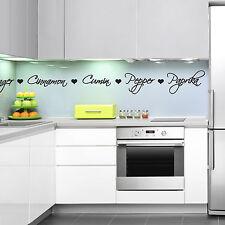 Spice noms Cuisine Autocollant Mural-Cuisine Épices Mots Autocollant Mural