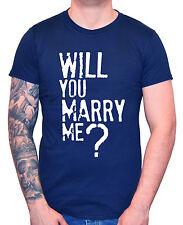 "Marriage Proposal T-Shirt ""Will You Marry Me?"" Men's Man Tee Wedding"