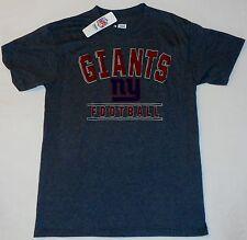 New York Giants Nfl Team Apparel T Shirt Men'S M L Xl 2X Charcoal Gray Nwt