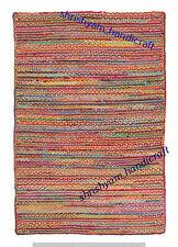 Braided Indian Jute Handmade Floor Rug Reversible Floor Rugs Cotton Area Rug Rag