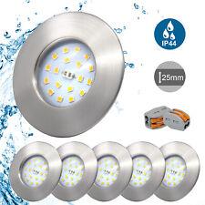 LED Einbaustrahler Ultra Flach IP44 LED Badeinbaustrahler 5W 500lm 230V Bad Lamp