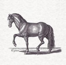 Cojín de tela de diseño de caballo xilografía/Panel de Artesanía Tapicería