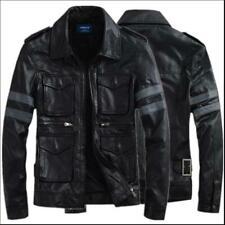 Resident Evil 6 / Leon Scott Kennedy Game Cosplay Costume Leather Coats&Jacket B