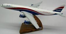 Airbus A-340 Arik Air Airplane Wood Model Replica Small Free Shipping