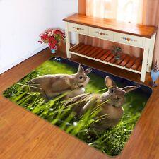 3D Coniglio Animale 143 Pavimento Antiscivolo Tappeti Elegante Tappeto IT Cobb