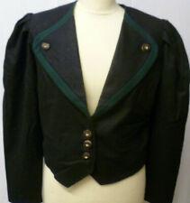 Damen Trachten Lodenjacke 36/38 schwarz mit grün