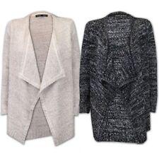 Ladies Cardigan Womens Knitted Open Front Heart & Soul Boyfriend Sequins Winter