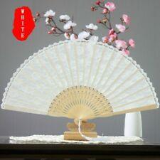 Lace Hand Fan Held Folding Silk Bamboo Women Wedding Prom Dancing Spanish Style