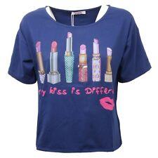 C4460 maglia over donna BLUGIRL FOLIES bluette t-shirt woman