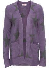 Chaqueta de Punto en el Jacquard-Design, 243172 en Púrpura Mate / Gris