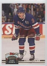 1992-93 Topps Stadium Club #394 James Patrick New York Rangers Hockey Card