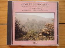 Soiree Musicale Werke Für Zwei Klaviere & Klavier Solo Duo di Heidelberg RAR!