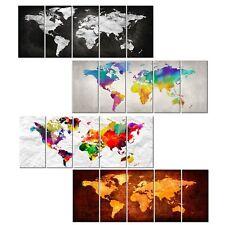 BILDER LEINWAND BILD Weltkarte Graffiti Kontinente weiß schwarz bunt WANDBILDER