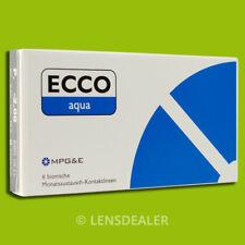 »» ECCO AQUA 1x6 PACK MPG&E KONTAKTLINSEN MONATSLINSEN SPHERIC +/- ALLE WERTE ««