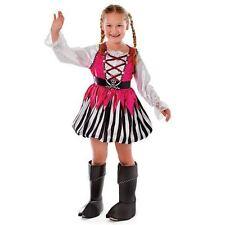 GIRLS PINK PIRATE FANCY DRESS COSTUME