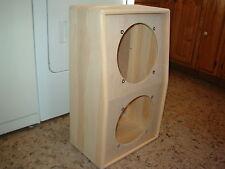 "TRM 12"" deep vertical 212 2x12 guitar extension speaker cabinet DIY."