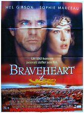 BRAVEHEART Affiche Cinéma Originale / Movie Poster MEL GIBSON & SOPHIE MARCEAU