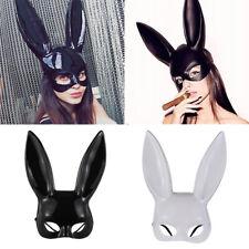 Props Halloween Bunny Girl Masquerade Rabbit Ears Mask Party Cosplay Costume