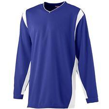 Augusta Sportswear Men's Self Fabric Cuff Long Sleeve Wicking Warmup Shirt. 4600